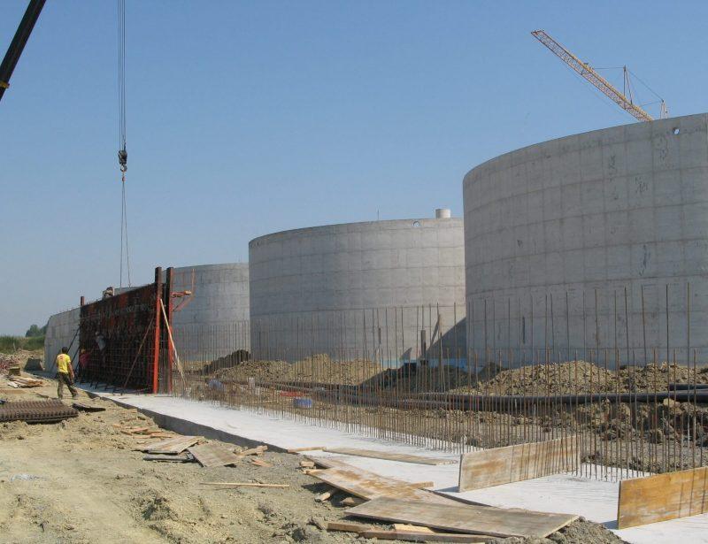 Izrada AB zida trenc silosa i AB spremnici
