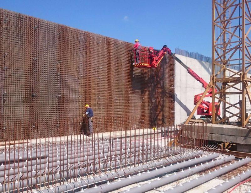 Izrada AB zida h=6m