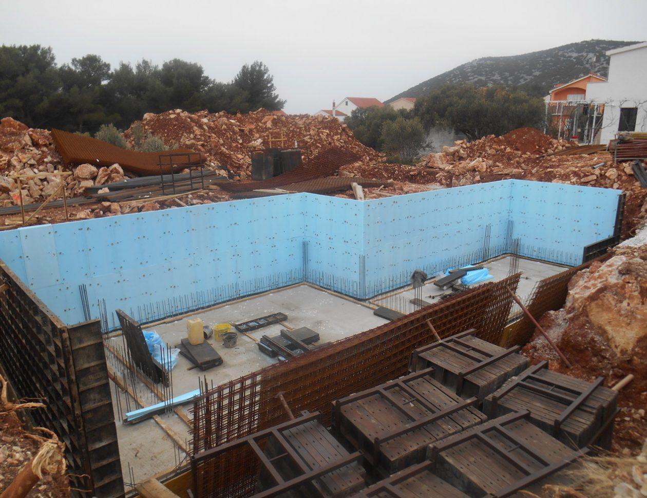 Izrada AB zidova podruma sa XPS izolacijom